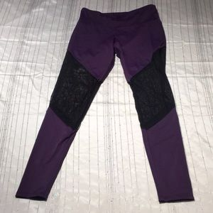 Onzie Purple Mesh Leggings Like New!